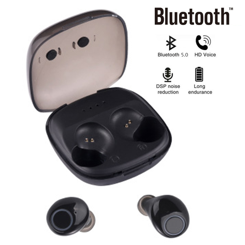 K11 Mini Bluetooth 5.0 Earphones Smart Wireless Sport Music Earbuds Invisible Waterproof Binaural Headsets With Charging Box