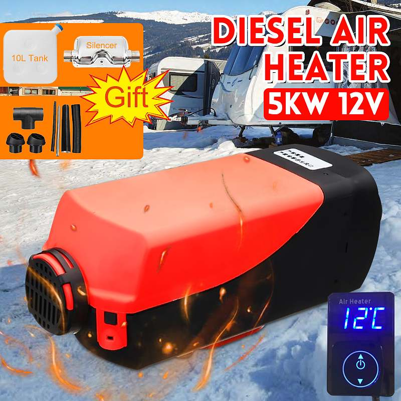 5000W 12V Air Parking diesels Fuel Heater Single Hole 5KW For Boats Bus Car Heater Digital Knob Switch Silencer For free5000W 12V Air Parking diesels Fuel Heater Single Hole 5KW For Boats Bus Car Heater Digital Knob Switch Silencer For free