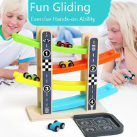 Gliding Vehicle Orbit Boy Alpinia Oxyphylla Inertia Baby Interest Girl Toys for children 1 2 3 Year kids Multicolor