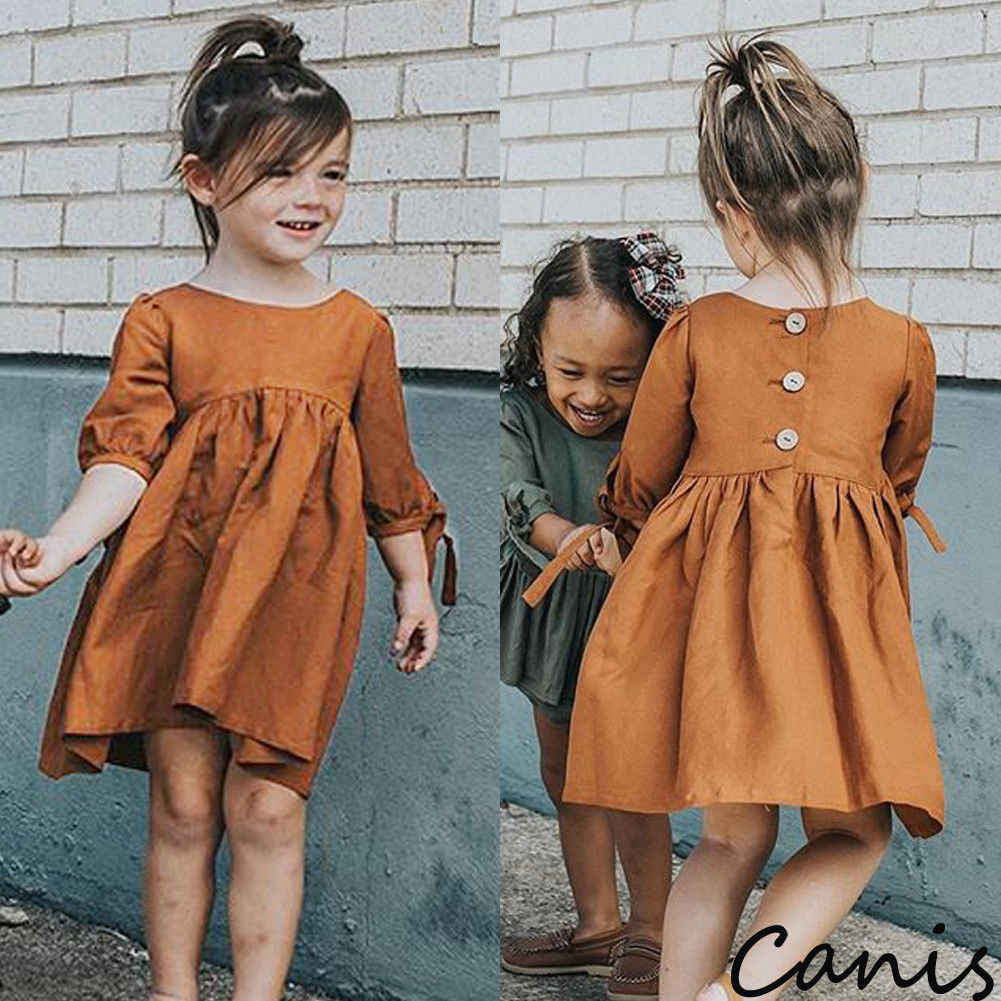 Pudcoco Girl Dress 6M-4Y US Toddler Kids Baby Girls Half Sleeve Dress Princess Party Tutu Dresses Clothes