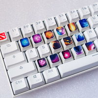 15 keys/set Customized Dye Sublimation PBT Keycap Mechanical Keyboard Key cap for DOTA2 Invoker Kael Skill key caps OEM profile