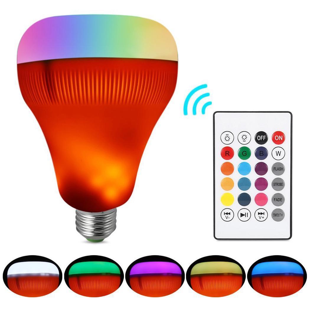 Smart LED Lamp Bluetooth Speaker E27 135Hz 15Khz 3W RGB 18W 3.0 Changing 7W Lamp 7W Wireless Stereo Audio A2DP