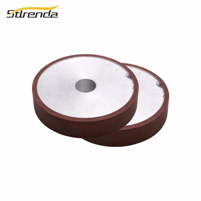 STLRENDA 125/180/200mm diamant meule résine parallèle 80-600 grain traitement lame de scie coupe meuleuse trou 20/25/32mm
