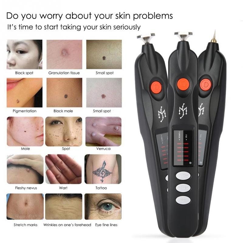 Face Skin Dark Spot Remover Freckle Wrinkle Mole Tattoo Removal Pen Multi-functional Facial Skin Professional Beauty Device Dc