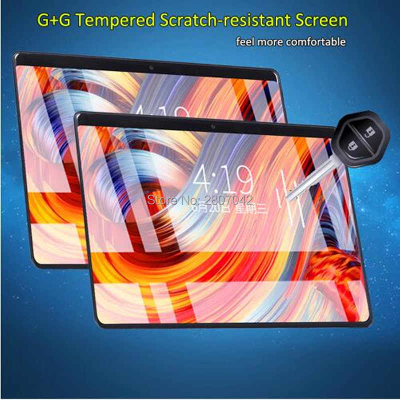 المقسى 2.5D الزجاج 10 بوصة اللوحي 1280x800 IPS 8.0MP 4G FDD LTE 4 GB RAM 64 GB ROM الثماني النواة الروبوت 8.0 اللوحي 10 بوصة جديد سادة