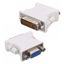New Arrival DVI-I 24+5 Pin DVI to VGA Male to Female Video Converter Adapter For for PC Laptop цена и фото
