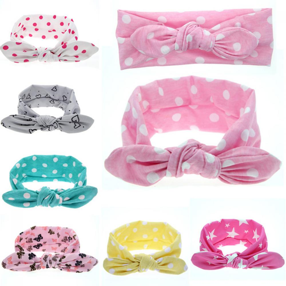 Home Spirited 2019 Baby Cute Dot Rabbit Ears Cotton Headband Girls Bow Head Band Children Knotted Hair Band Scrunchie Head Wraps Accessories To Rank First Among Similar Products