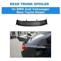 For BMW F80 E46 E90 E92 M3 F82 M4 F87 M2 E60 F10 M5 Car Styling Rear Trunk Lip Spoiler Boot Lip Carbon Fiber
