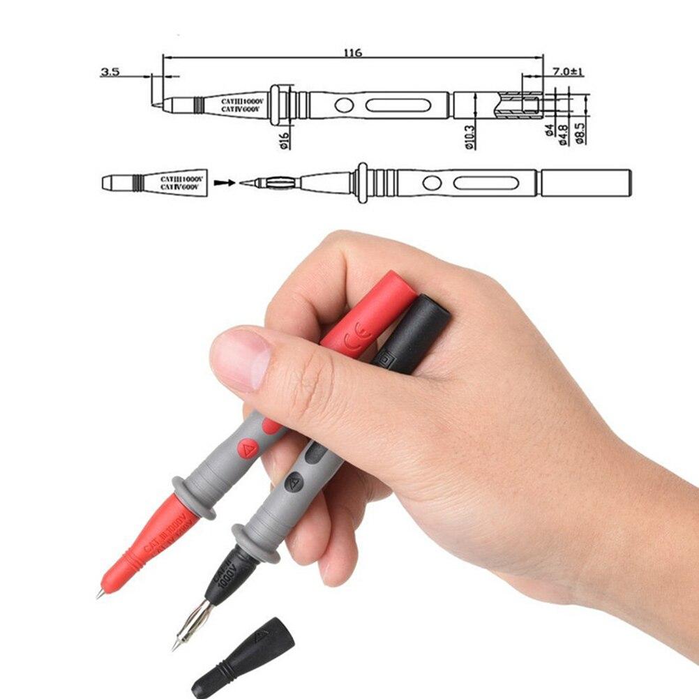 Kit de fils de Test multimètre numérique ensemble de fils de Test automobile avec pinces crocodiles accessoires multimètre