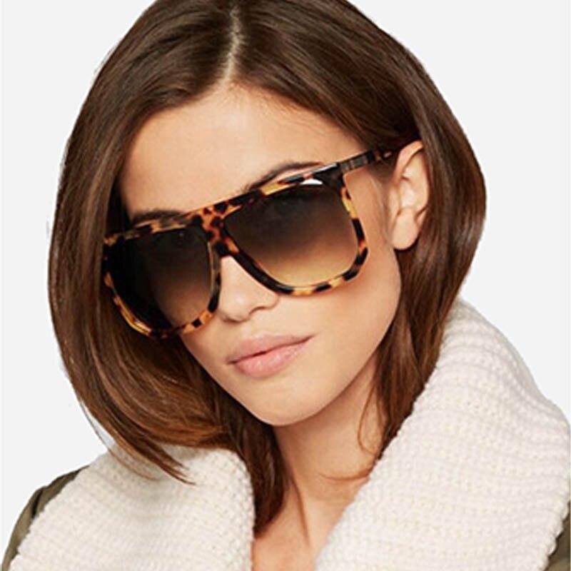 Q Vintage Sun Glasses Oculos De Sol  UV400 Square Brand Designer Big Frame  Women Sunglasses Feminino Gradient