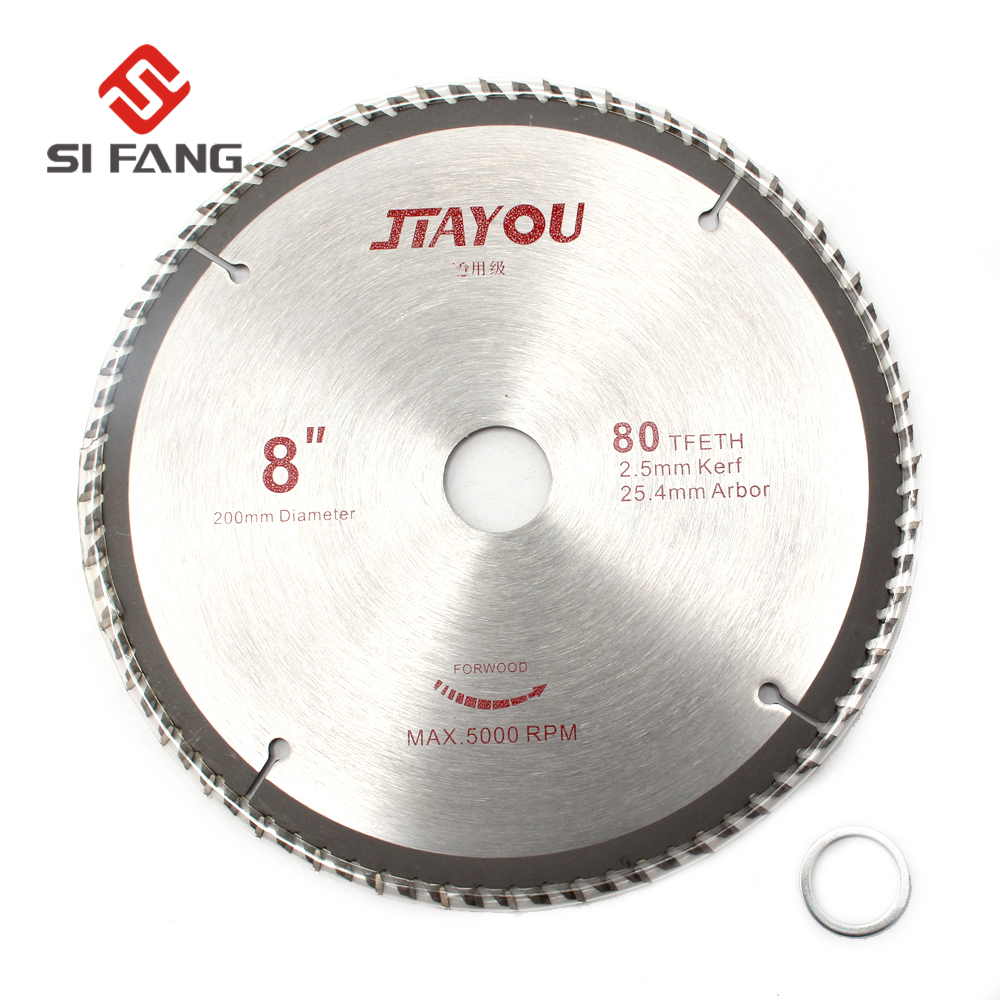 8 Inch 80T Circular Sawing Blades Wood Cutting Round Discs Hard Alloy Steel Circular Sawing Blade For Grinder Cutter 1