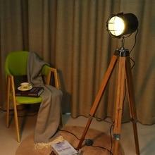 Тренога торшер стоячие светильники Декор для гостиной чтения освещение деревянный треугольник современный минималистский промышленное освещение