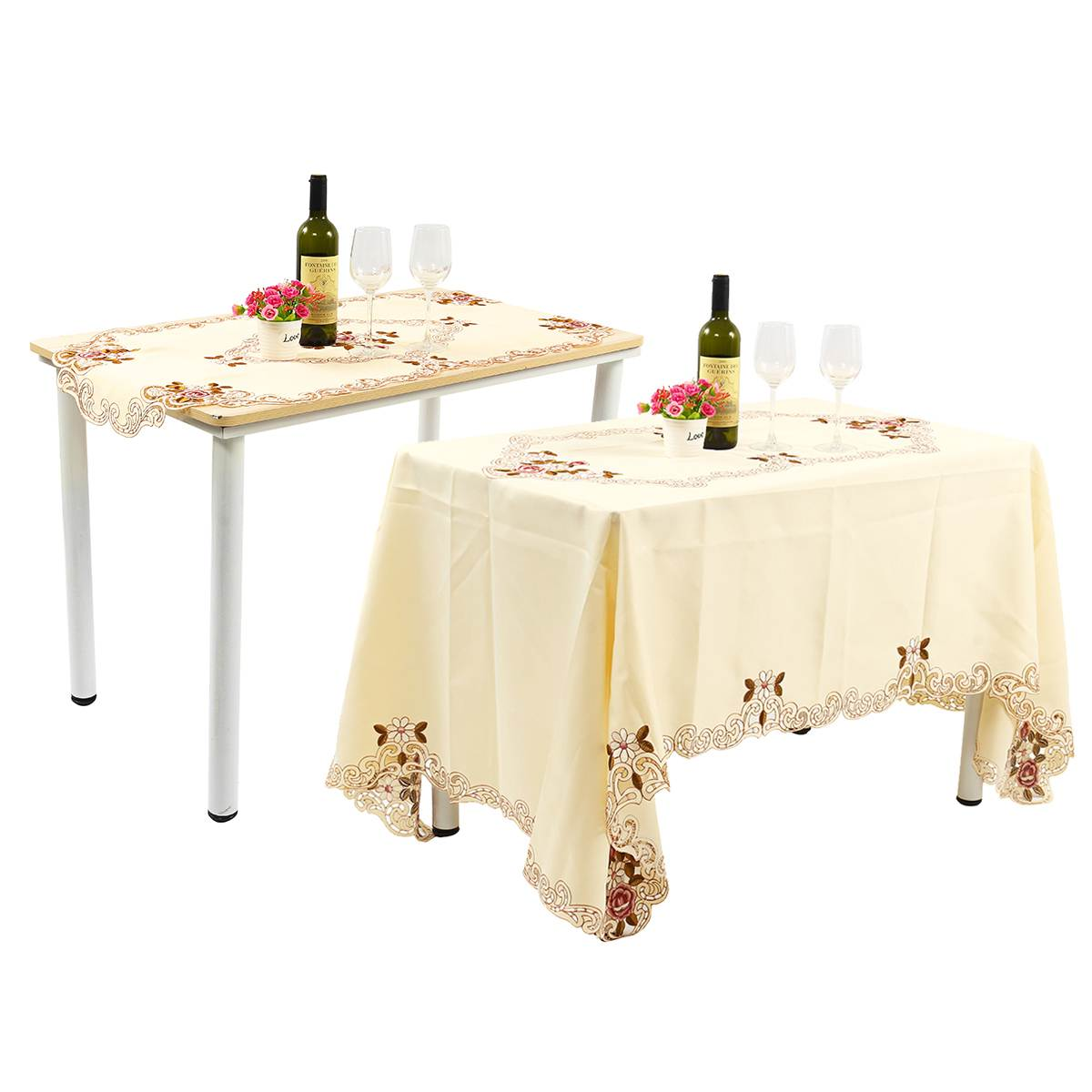 Us 816 52 Offfabric Rectangular European Pastoral Embroidered Table Cloth Table Flag Garden Tablecloth Table Towel Coffee Table Runner Cover In
