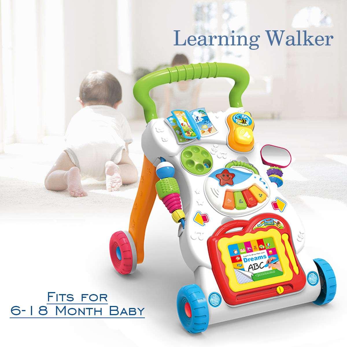 Bébé jouets apprentissage marcheur musique assis sur pied panneau d'activité assis Center de jeu enfant en bas âge bébé activité roue bébé marcheur sécurité