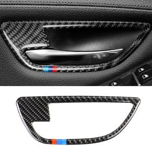 Image 2 - Para BMW serie 5 F10 2011, 2012, 2013, 2014, 2015, 2016, 2017 4 Uds de fibra de carbono coche puerta manija de la puerta de la cubierta de cuenco