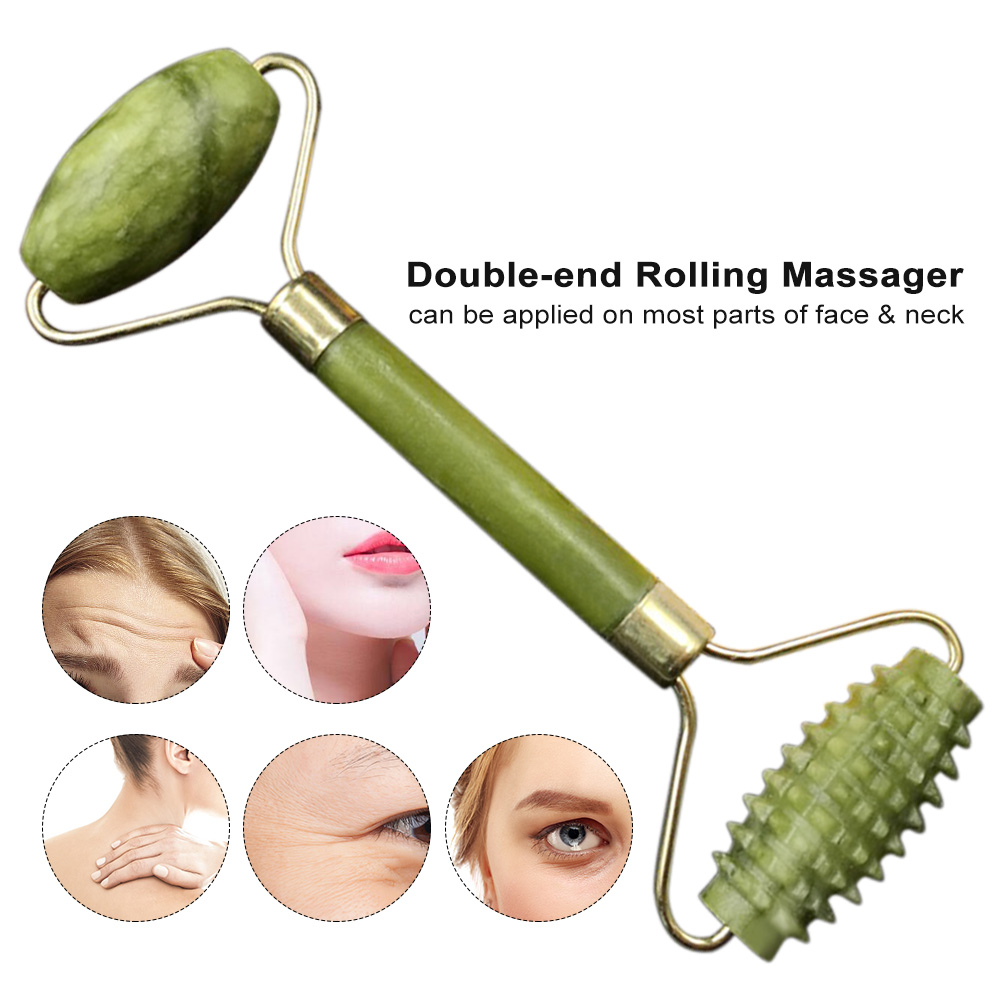 Jade Roller Massager Face Roller Massage Anti Aging Facial Therapy Anti Wrinkle & Reduce Fine Line Tools For Face Eye Neck Care