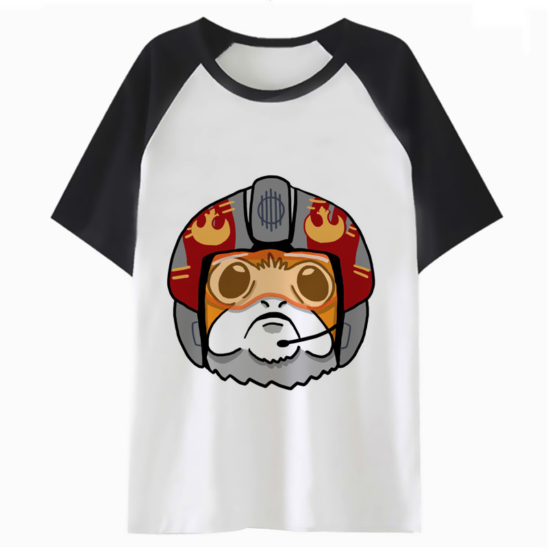 Porg T Shirt Hop Male Clothing Top Funny Tshirt Harajuku T-shirt For Hip Men Streetwear Tee PF2784