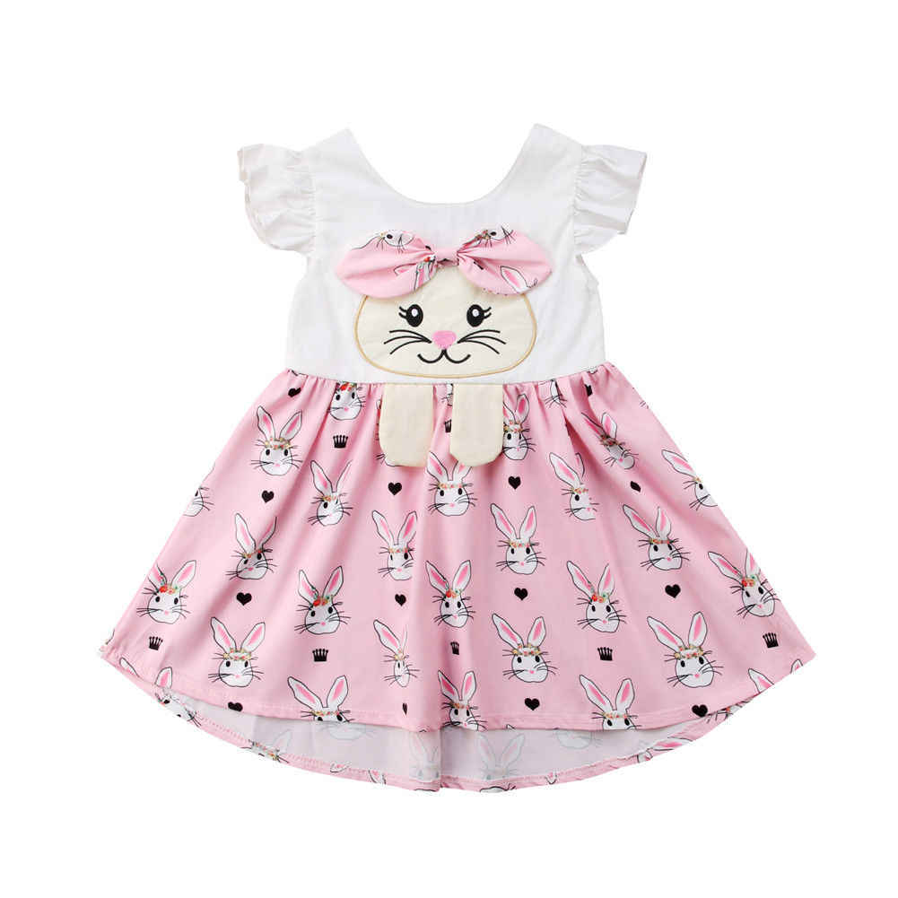 fafa54d7d083 Hot Sale Easter Kids Baby Girls Bunny Romper Party Dress Sundress Outfit  Clothes Sister Clothing Summer