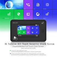 2019 2G/3G Version Smart Home Security Alarm System Kits Remote Control Support APP Control Amazon Alexa EU / UK Card Slot