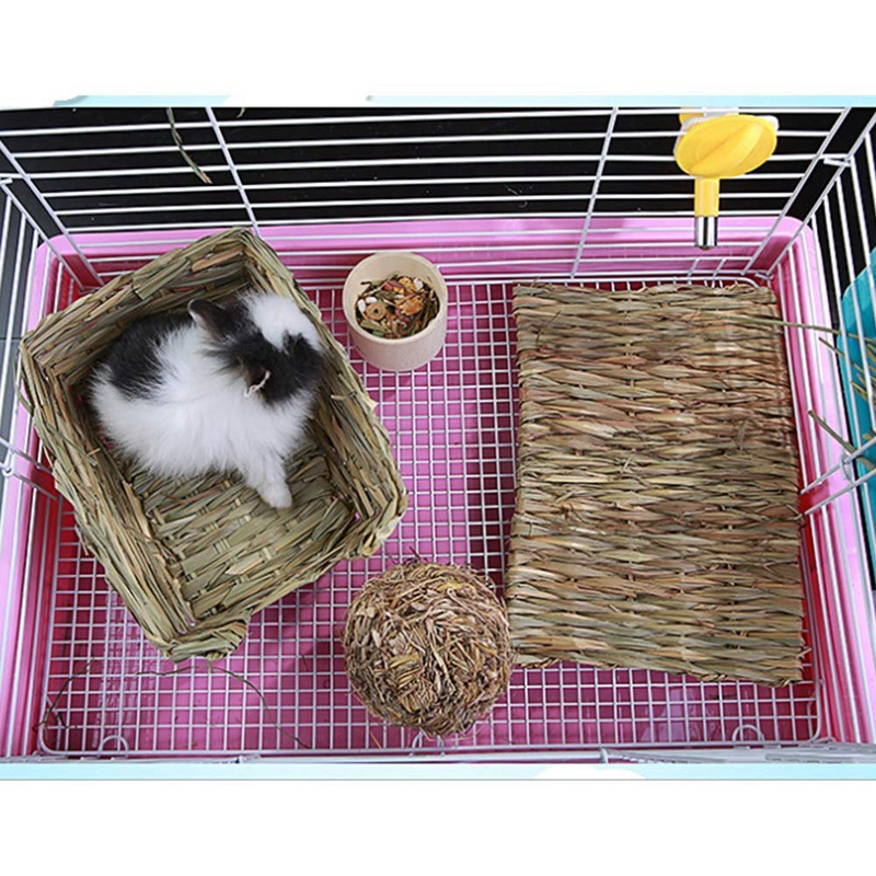 Rabbit Mat Grass Mats For Rabbits Safe Edible Rabbit Mats For Cages Bunny Chew Toys For