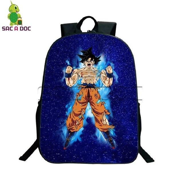 Anime Dragon Ball Z Galaxy Backpack Super Saiyan Goku Gohan Black Goku  Travel Bags Boys Girls School Bags Children Best Gift