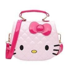 53c6c04fa4 Cartoon Handbag Women Pink Hello Kitty Waterproof Tote Girl s PU Messenger  Crossbody Pack Shoulder Bag Supplies