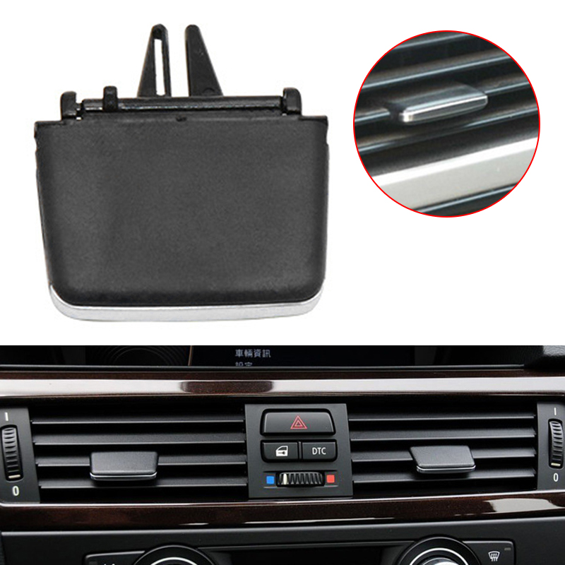 1pc Car Front <font><b>Vent</b></font> Tab/<font><b>Vent</b></font> Clip For <font><b>BMW</b></font> <font><b>E90</b></font>/E91/E92/E93 3 Series 2006-2013 Black Auto Interior Middle Side <font><b>Vents</b></font> Tab Clips image