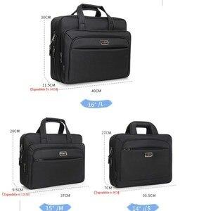 """Image 4 - Erkek çanta iş evrak çantası büyük kapasiteli erkekler tek omuz çantası 14 """"15.6"""" 16 """"dizüstü bilgisayar çantası HP Dell Lenovo Apple Ipad"""