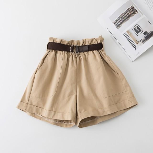 Shorts anchos con cinturón