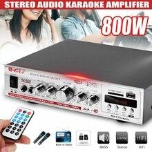 800W 220V/12V 2CH HIFI Car Amplificador Stereo Power Audio Amplifier FM Radio SD
