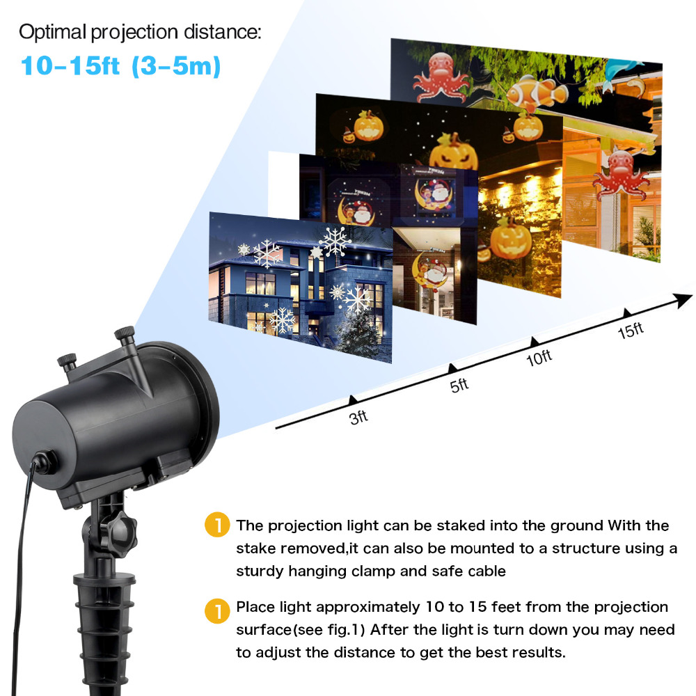 Image 3 - IP65 Halloween Led Party Anime Pattern Halloween Projector KTV Laser Projector christmas decorations for home Dropshipping-in Stage Lighting Effect from Lights & Lighting