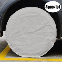 4PCS Auto Spare Wheel Tire Cover Bag Car Waterproof Dustproof Tire Cover For Truck Trailer RV Camper Motorhome недорого