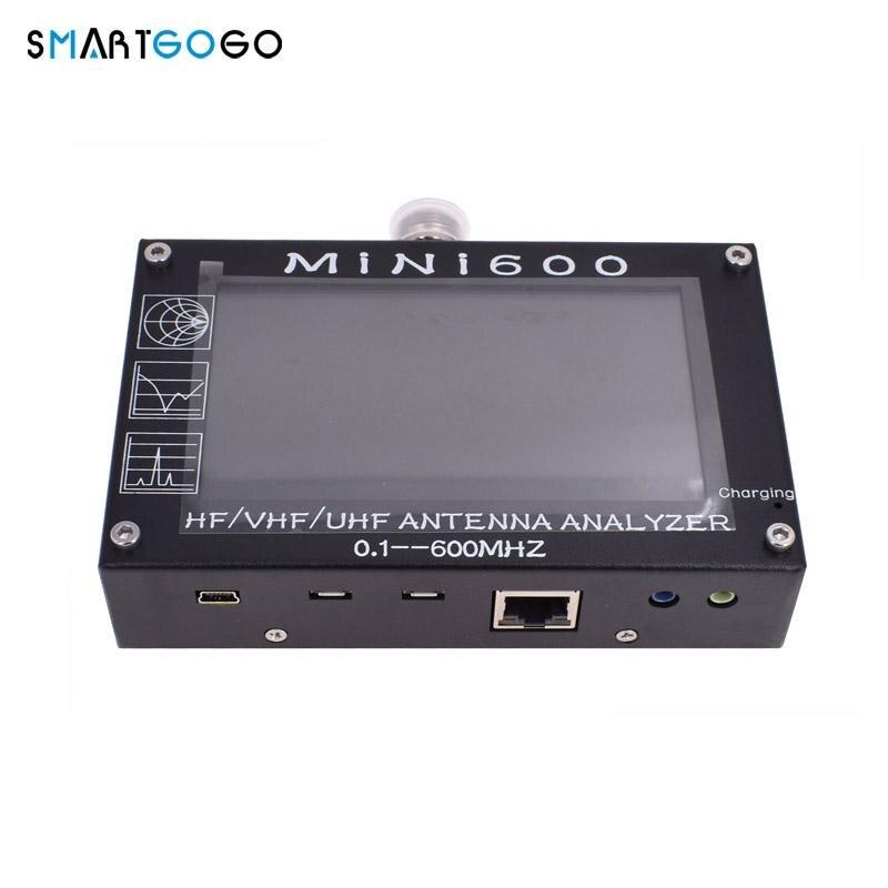 Radio Mini600 HF VHF UHF Analizador de antena de 0,1-600 MHz medidor SWR 1,0-1999 5 V/ c6-007 a tarjeta TF caliente