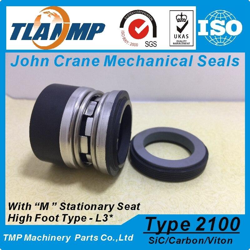 Type 2100-2-55, 2100K-55, 2100-55 (L3 *) joint à soufflet en élastomère-joints mécaniques John Crane (matériau: carbone/SiC/Vit)