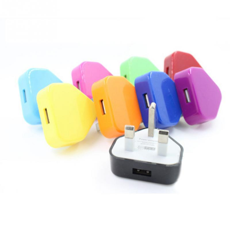 UK Plug Mains Wall 3 Pin USB Power Adaptor Charger For Iphone for Ipod Mobile Cell Phone Tablet Plug Converter Adapter