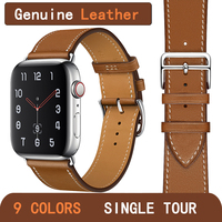 Kebitt genuine leather men women single tour bands For apple watch series 5 4 3 2 iwatch herm strap 38 40mm 42 44MM band