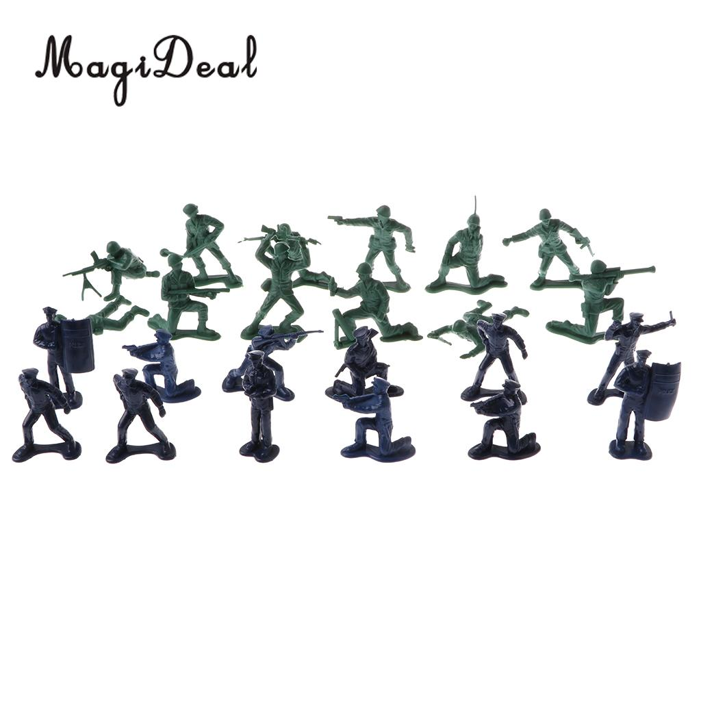 90pcs Military Playset 5cm Soldier Army Men Figures for Sand Scene Model Toy