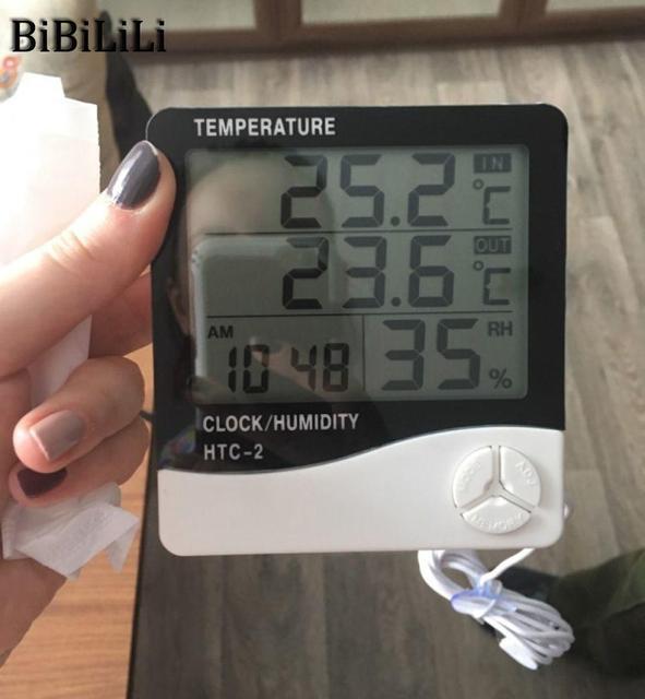 Vendita calda Digitale LCD Termometro Igrometro Elettronico della Temperatura Mi