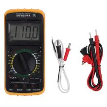 цена на 200mV-1000V Handheld LCD Digital Multimeter AC/DC Volt Amp Ohm Capacitance Hz Temp Tester Electrical Instrument DT-9208A