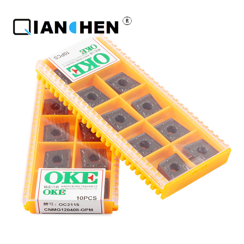 Original Quality OKE 10pcs/lot High Precision High Performance High Strength CNC CNMG120408-OPM OC2115 Industry Carbide Inserts