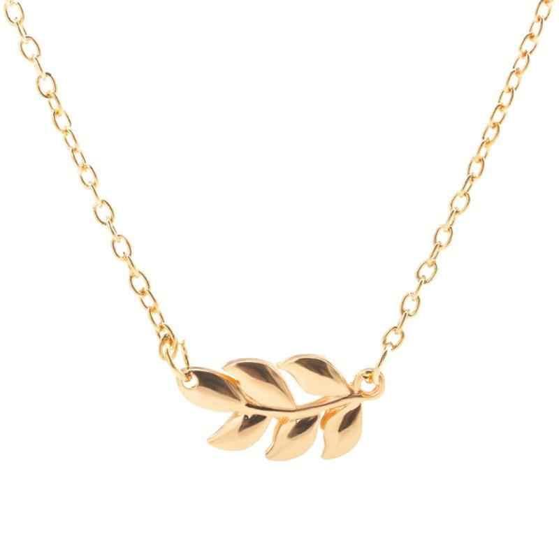 ミニマリストの女性の葉のペンダントネックレス合金鎖骨チェーンギフトジュエリー