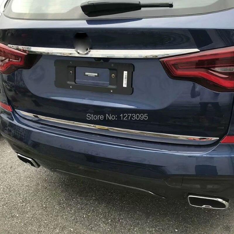 Chrome Car Rear Bumper Guard Trunk Edge Trim Cover For Nissan Qashqai 2018-2019