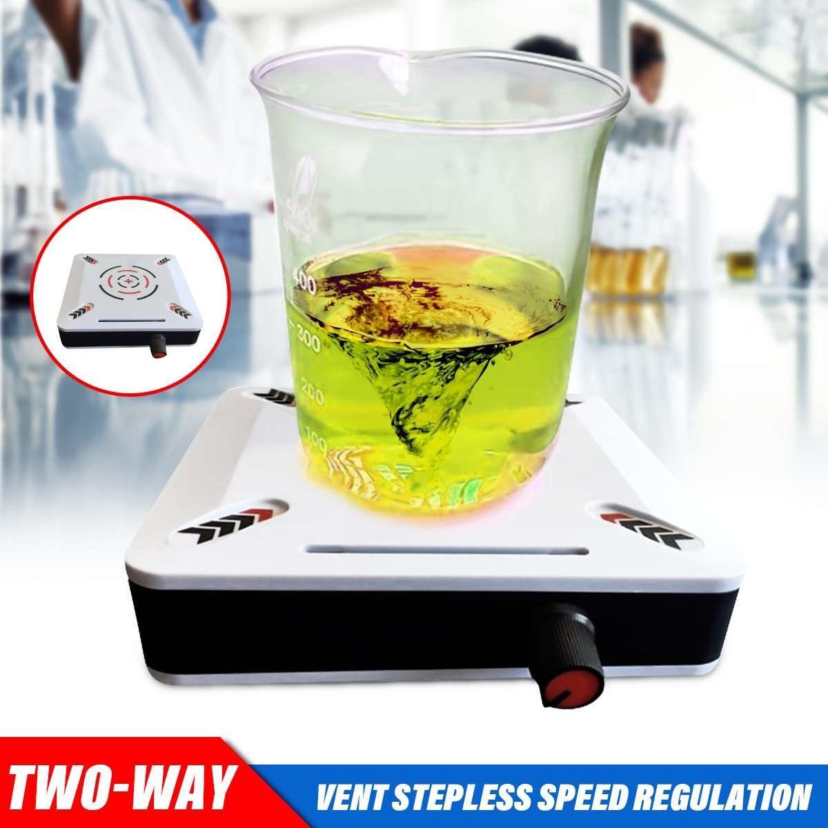 1L 12V Magnetic Stirring Apparatus Portable Agitator Laboratory Miniature Infinitely 0-2500RPM Speed Magnetic Stirrer Mini Mixer