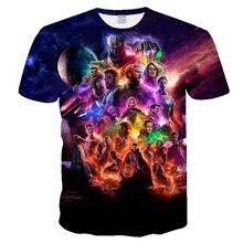 Новинка года Marvel Мстители 4 финал Футболка 3d печать супергерой Америка футболка Косплей Футболка Мужская Новая летняя модная футболка