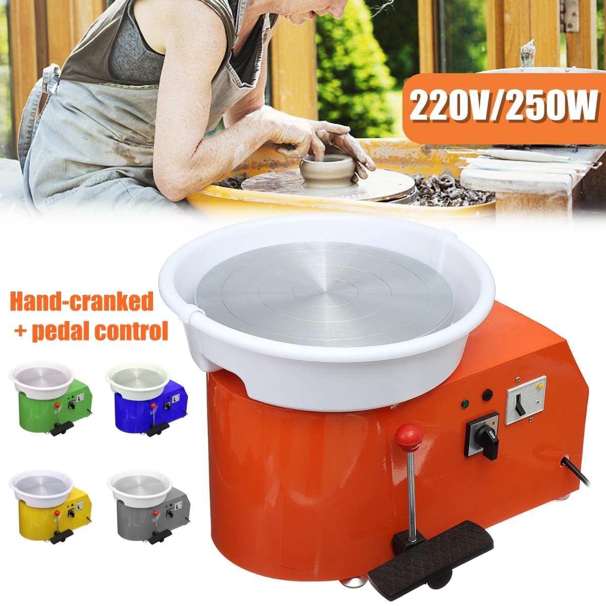 Machine en céramique de roue de poterie électrique 220 V 250 W tournant Kit de potier d'argile en céramique de 300mm