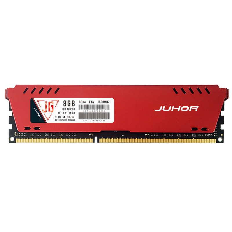 JUHOR Ddr3 1600 Mhz 1.5 V 240 Broches Mémoire Ram Avec Dissipateur de Chaleur Pour Pc De Bureau (8G)