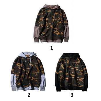 New Autumn Mens Hoodie Skateboard Sweartshirt Pullover brand clothing tracksuit men Camouflage Black Hip Hop Hoodie