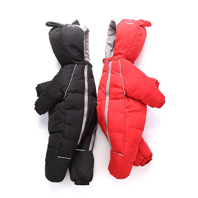 Infantile Enfants D'hiver Combinaison De Neige Garçons Et Filles Veste bébé vêtements porter habineige Vêtements Nouveau-Né Vers Le Bas Coton Manteau