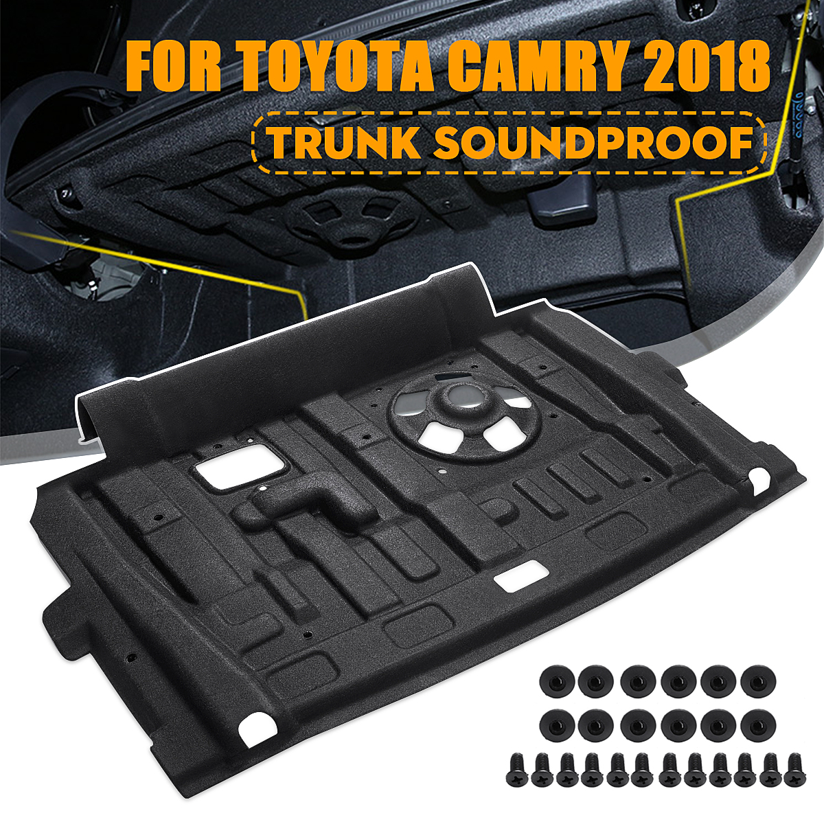 Car Rear Trunk Soundproof Cotton Mat Sound Proof Deadening Protective Mat for Toyota Camry 2018 Car Accessories