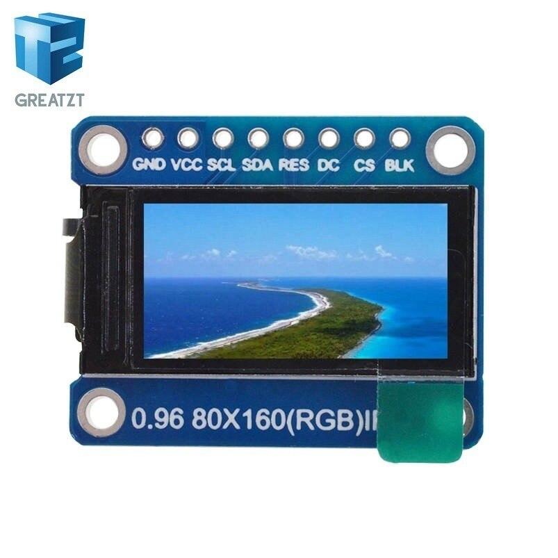 nicht Oled Für Arduino Attraktive Mode Greatzt Tft Display 0,96/1,3 Zoll Ips 7 P Spi Hd 65 K Volle Farbe Lcd Modul St7735 Stick Ic 80*160